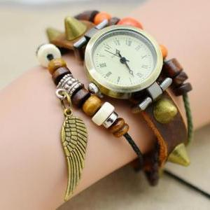 Infinity Leather Watch Bracelet win..