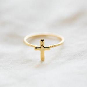 Hemp flowers ring cross ring
