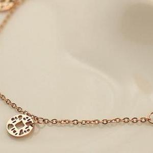 Simple currency bells anklet Titani..