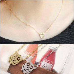cute bear clavicular short chain ne..