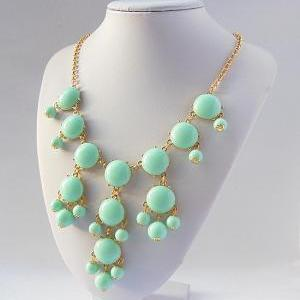 Handmade Bubble Necklace - Bib Neck..