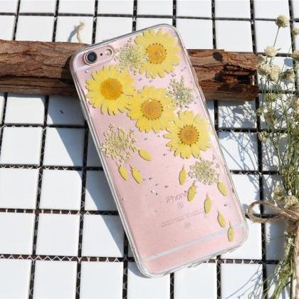 Sunflower case Pressed Flower Case ..