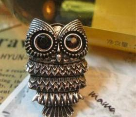 vintage owl ring , a..
