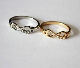 infinity ring, silve..