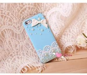 lace case pearl case..