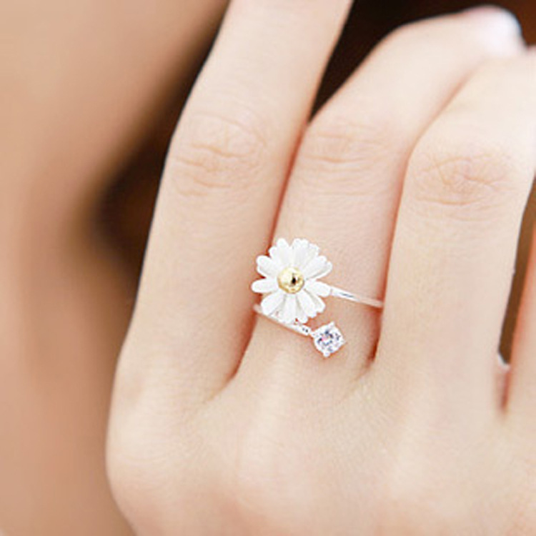 small products daisy dotted eng original rings stackable fullxfull band girl chain ring handmade flower il filled wedding engagement gold