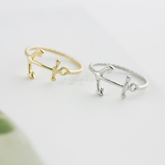 Anchor Ring Jewelry Ring Little Finger Ring ,gold Ring silver