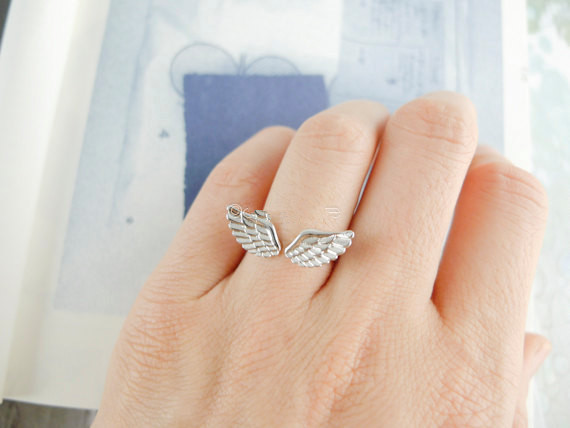 Adjustable wings small ring opening ring,gold ring ,silver ring