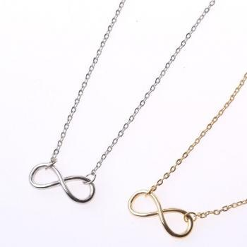 18K Rose Gold Plated female short 8 necklace