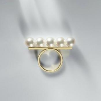 Simple and elegant personality Pearl Ring size us 6-8
