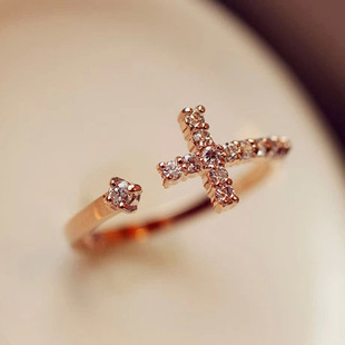 Micro crystal zircon adjustable cross ring opening ring