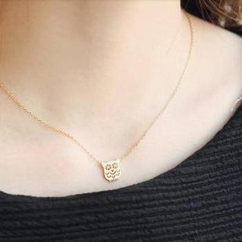 cute bear clavicular short chain necklace
