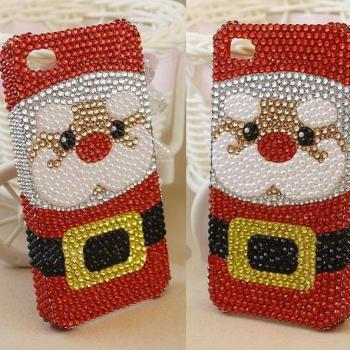 Santa Claus case bling bling case iphone 4 case iphone 4s case iphone 5 case iphone 5s case