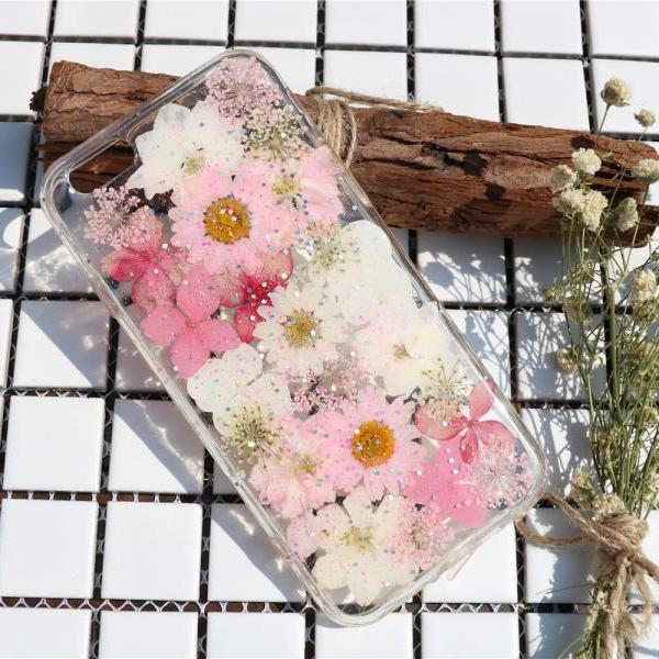 Spring pink case Pressed Flower Case Real dried flowers phone case iphone 7 case iphone 7 plus case iphone 6 case iphone 6 plus case samsung s7 case samsung s6 case samsung note 5 case samsung note 4 case